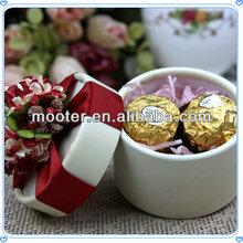 Flower Topper Bulk Round Custom Chocolate Gift Boxes For Gift Packaging