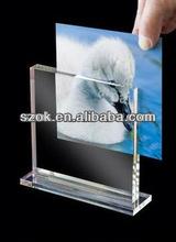 Novo design de alta qualidade lados dobro acrílico photo frame