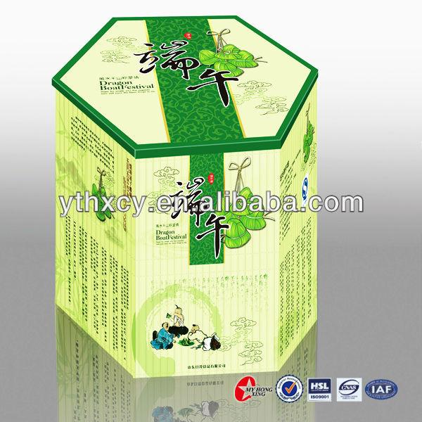 Customed Corrugated Cardboard Priting zongzi Packaging Box