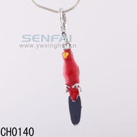Whosale Pandents Parrot Bird Charms Red Beautiful Jewelry