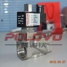POP-25BH stainless steel 316 1'' solenoid valve normally open