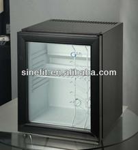 no frost mini fridge for hotel 25 litre glass door