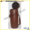 Handmade Fashion zipper pu leather wine case