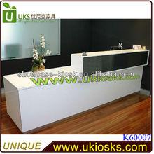 Glossy white front office desk modern reception desk reception counter design