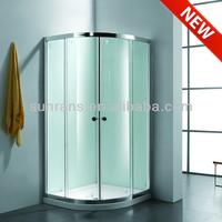 6MM tempered glass shower cabin corner standing shower