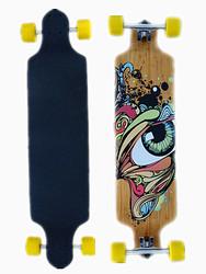 41 x9 inch 7 ply canadian maple + 2 ply bamboo longboard maple longboard skateboard