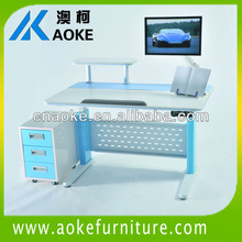 Multi-function Wooden Top Metal legs study desk SJ05E-D