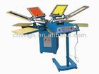 4 color manual screen printing machine