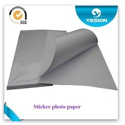 Premium inkjet matte self adhesive paper 120gsm hot melt glue