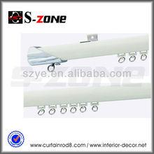white color aluminium drapery curtain rod track for five star hotel