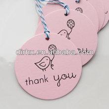 Thank You Tags Custom Colors gift tag wedding birthday hang tag