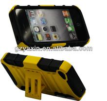 Fashion kickstand anti shock silicon pc case for iphone 5
