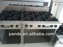 Quality Commercial Heavy Duty 6 Burner Gas Range Hot Sale Export Standard