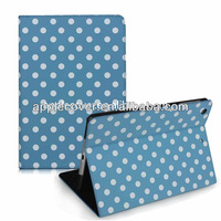 Polka Dot book leather cover for iPad mini Retina case