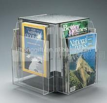 wall mounted acrylic book shelf