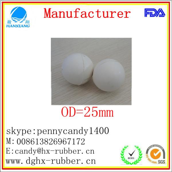 Dongguan manufacturer high bouncy hollow rubber bouncing balls