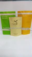 resealable zipper kraft paper food packaging bags for tea