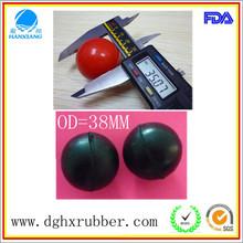Dongguan manufacturer high bouncy hollow rubber toy balls