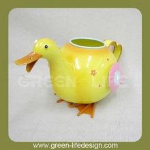 Smart garden metal duck watering water can