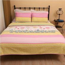 Applique Flower Color comforter sets HLK034