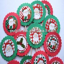 Christmas Santa Party Picks - Cupcake Toppers - Toothpicks - Food Picks
