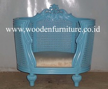 Antique Pet Bed French Style Cat House European Style Home Furniture French Provincial Dog House Classic Rattan Dog Sofa