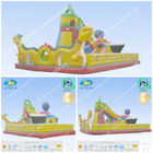 inflatable amusement park chongqi inflatable dragon and octopus slides wet dry combo bouncer