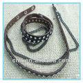 diamante promocionales pulseras de cuero para los hombres