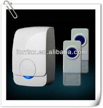 Wireless ring IP44 waterproof -2 Transmitter 1 Receiver LED Flash Light 110db 52 Melodies 300M Range CE RoHS