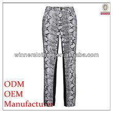 high fashion polyester/spandex printed 2012 women pants