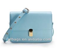 GF-J178 Hot Selling Classy Blue Leather Girls Cross Body Bag Messenger Bag