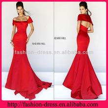 Eye-catching Scoop Neckline Satin Red Carpet Evening Dress Plus Size