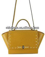 Fashion Rivet Bat Woman Single Shoulder Bag Leather Handbag Custom Woman Bag