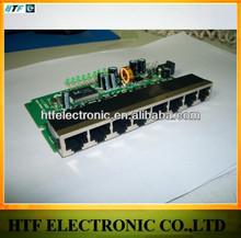 high power OEM/ODM 8 Port 10/100M realtek chipset unmanaged full duplex lan SWITCH Lay2 PCBA Module access point tp link