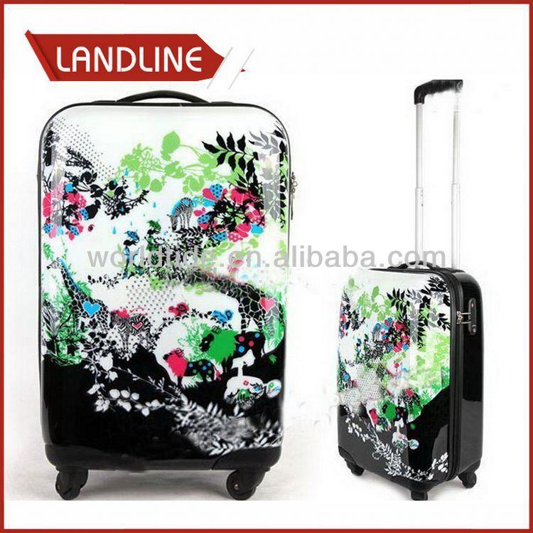 Colorful Travel Trolley Luggage Bag
