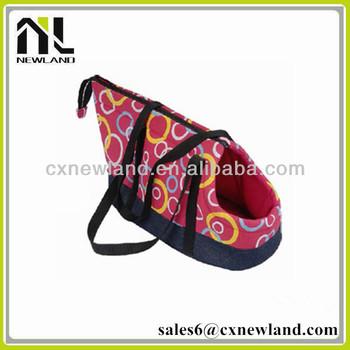 Pink decorative waterproof canopy portable dog bag