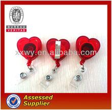 Formato de coração ajustável ABS retrátil ID Badge bobinas