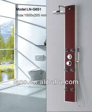 glass bathroom fittings names LN-G651