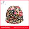New Oem Custom Suede Brim Floral 5 Panel Cap/Hat Ajustabel Blank Snapback Cap/Hat