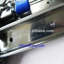 Heavy duty drawer slide with locking mechanism
