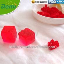 Transparent red cubic crystal soils for decoration