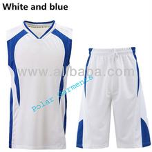 White and Blue Uniform Basketball