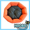 Sunflower Shaped Short Fur and PP Cotton Cheap Cute Dog Pet Beds With Removable Cushion