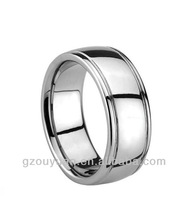 Tungsten Rings, Classic Two Grooved Polished Tungsten Rings