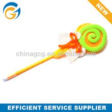 Lollipop Soft Lint Doll Ball Pen