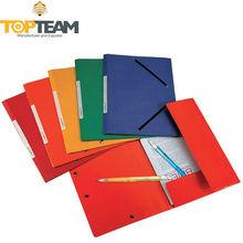 Rubber Straps Thick Cardboard Folder, File Folder Duplex Board, A4 Size