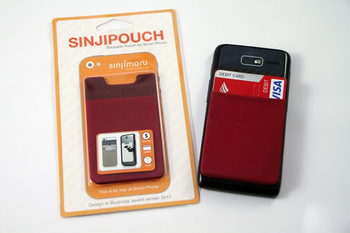 Spandex smart wallet for mobile phones. 3M adhesive sticks, card holder for cellphone.spandex wallet for mobile phone.