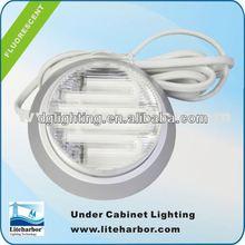 9 Watt Low Energy Fluorescent mini cabinet spot light in Silver LED Wardrobe Light