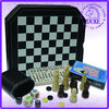 Classic multiple game set, chess,checker,backgammon,playing cards,domino,dice, 6 in 1 game set