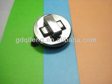 Shinny níquel círculo caja de metal de bloqueo accesorios para la joyería crystal f-126